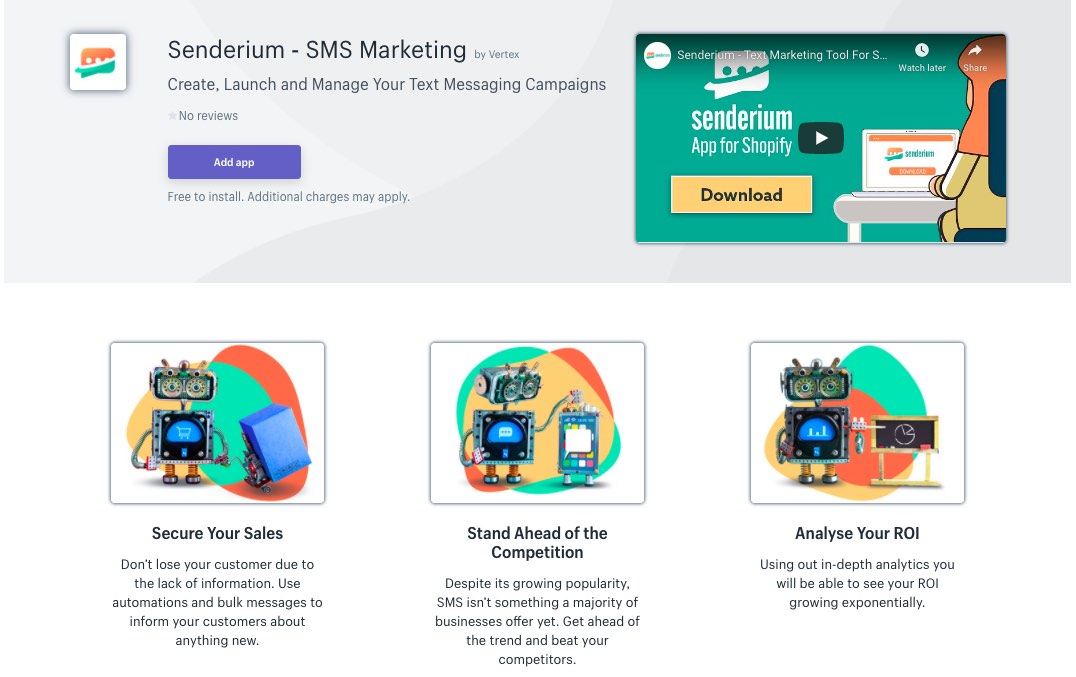Best SMS marketing software, tool (Shopify) - Senderium