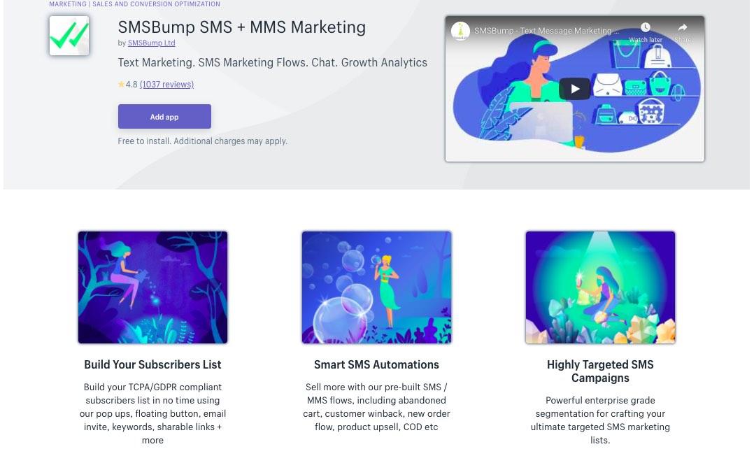 SMS marketing software, tool - SMSBump