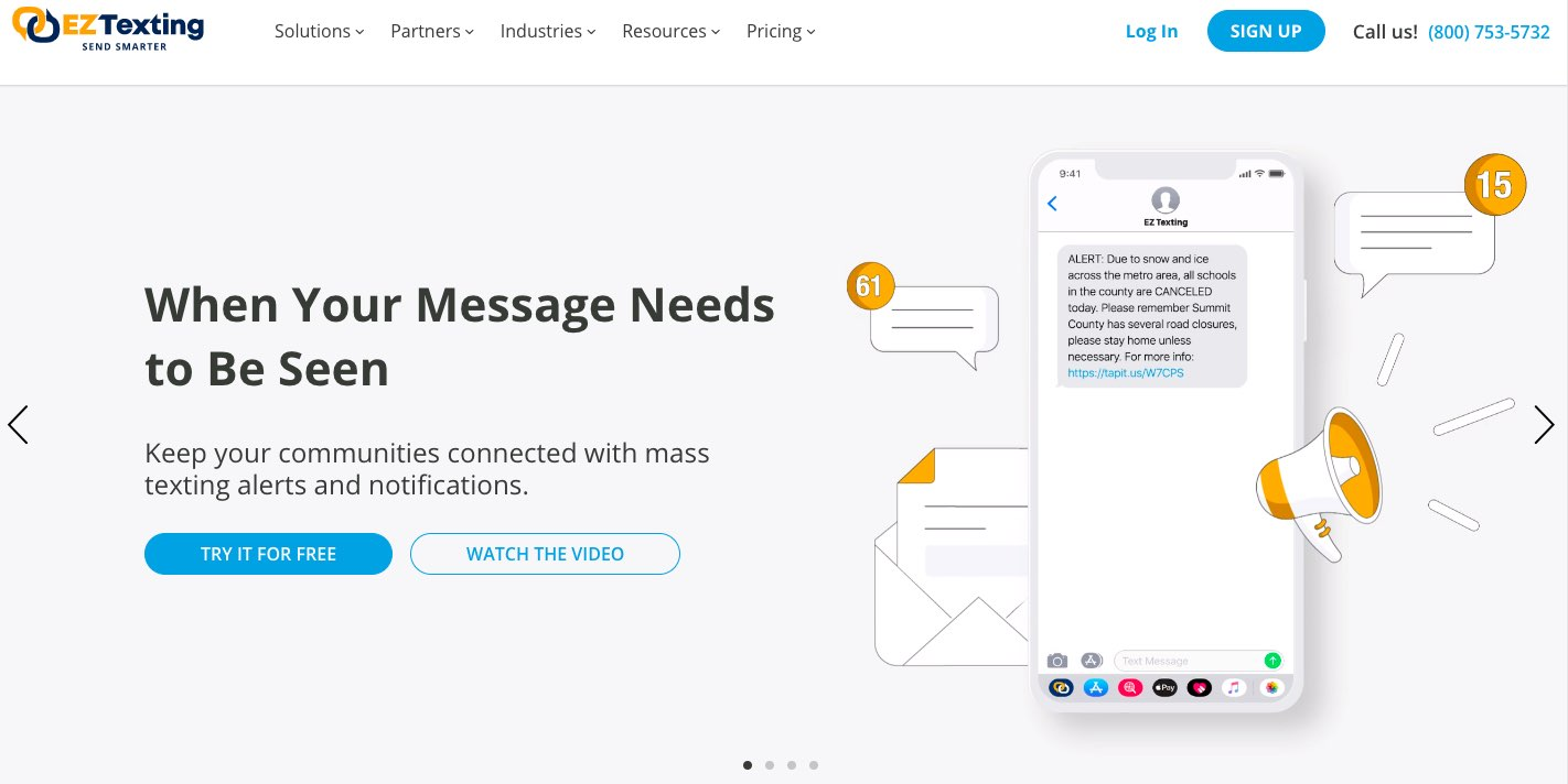 SMS marketing software, tool - EZ Texting