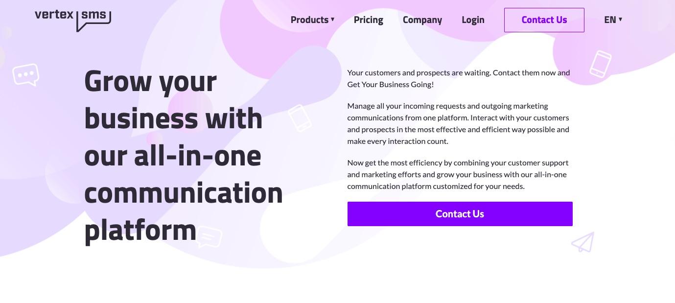Best SMS marketing software, tool - VertexSMS