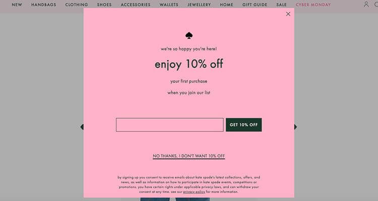 Holiday E-Commerce Strategy - Prepare a relevant subscription pop-up