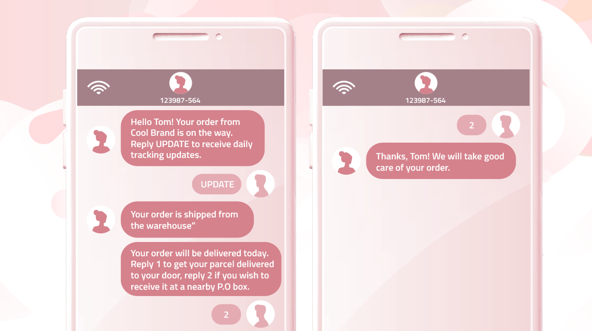 Automated SMS chat