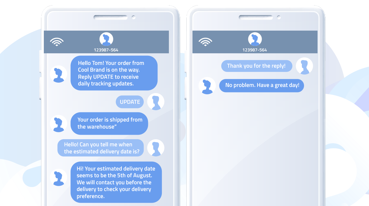 Automated SMS chat with a live agent