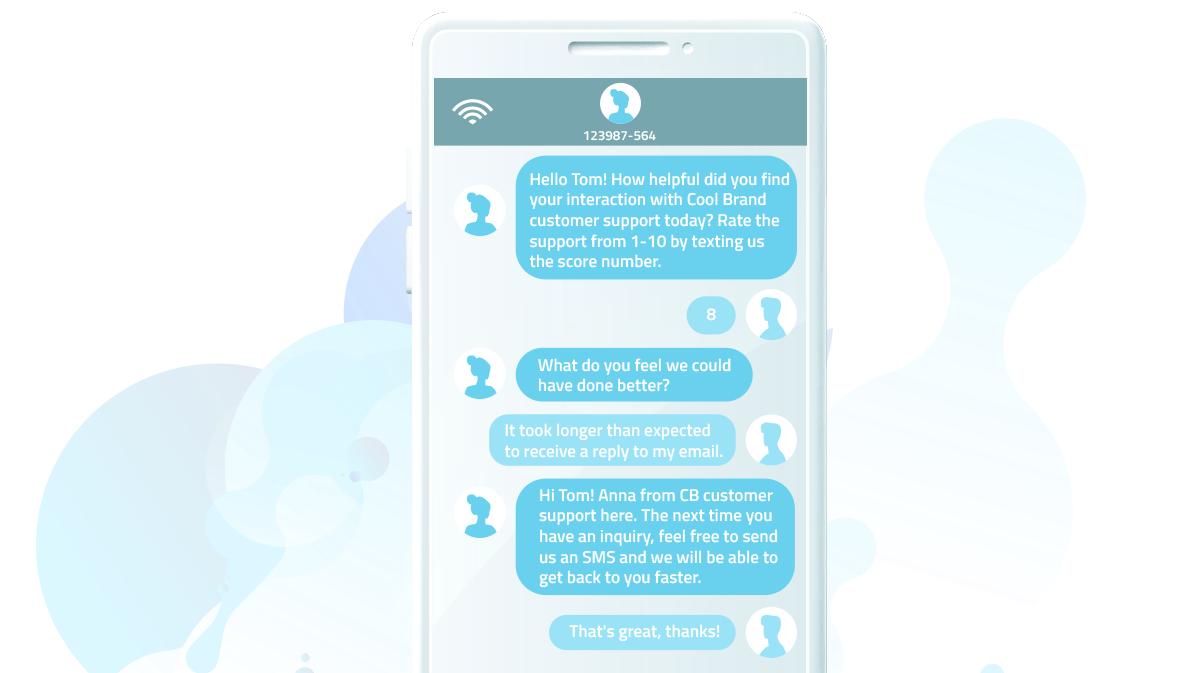 Collect customer feedback via SMS